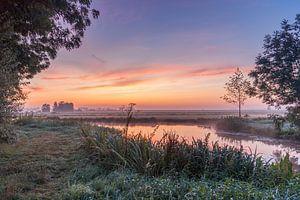 Beautiful sunrise in South Holland van Rossum-Fotografie