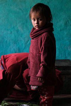 Kind nonnetje in Tibetaans boeddhistisch klooster van Affect Fotografie