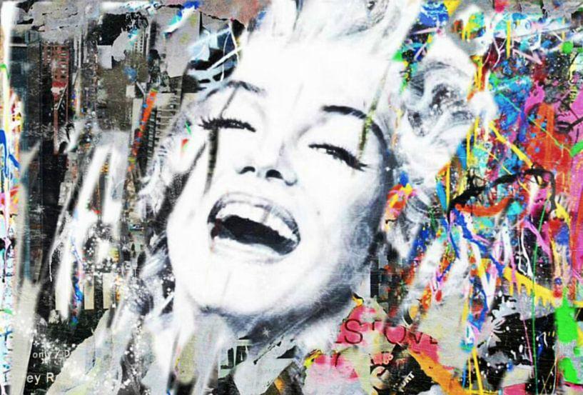 Marilyn Monroe Urban Collage Pop Art Pur van Felix von Altersheim