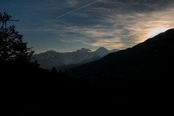 Zonsondergang Frankrijk