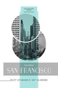 Poster Art SAN FRANCISCO California Street