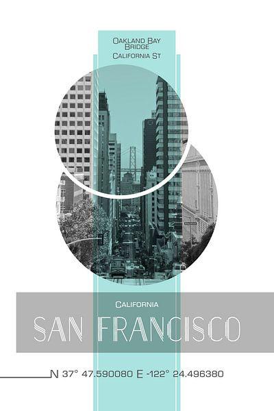 Poster Art SAN FRANCISCO California Street sur Melanie Viola