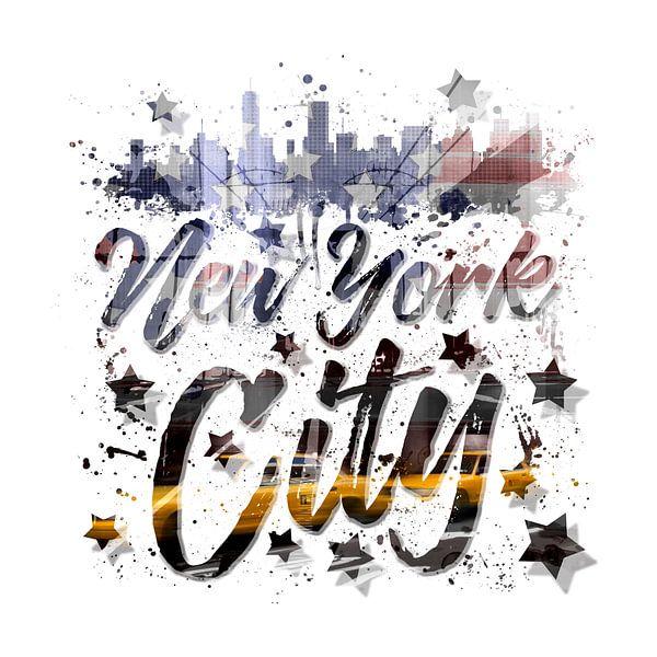 City-Art NYC Composing | Typography von Melanie Viola