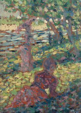 Georges Seurat~Frau in einem Park