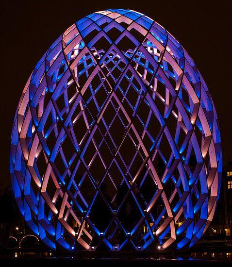 Blauw Ovo Ei Amsterdam van Guido Akster