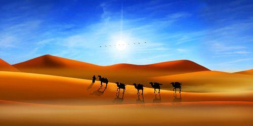 Die Karawane in der Wüste von
