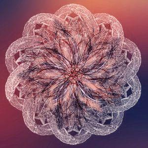 Mandala lila orange