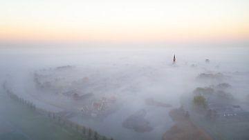 Nebel über Schermerhorn von Peter Korevaar