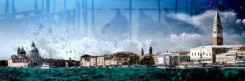 City-Art VENICE Panoramic View van Melanie Viola