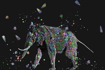 La mosaique de l'éléphant sur Catherine Fortin