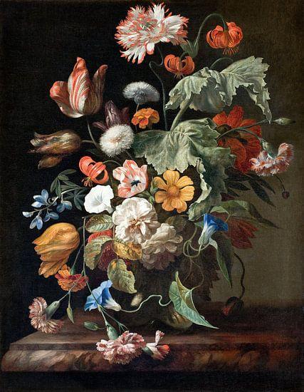 Stilleven met bloemen, Rachel Ruysch van Meesterlijcke Meesters