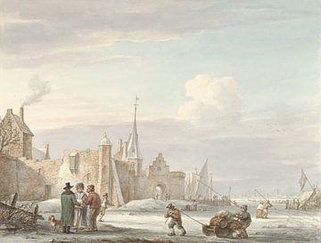 Stadtbild im Winter, Martinus Schouman