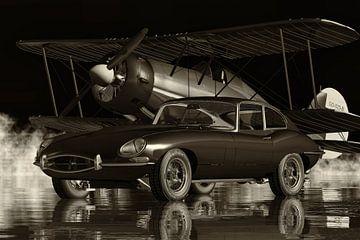 Jaguar E Type uit 1960 Een echte sportwagen