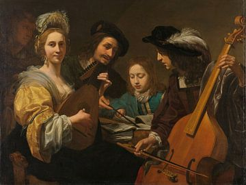 Musicerend gezelschap, Gerard van der Kuijl sur