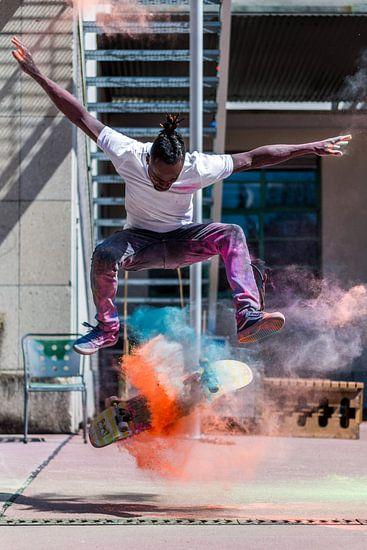 Skater - Kickflip mit Holipulver