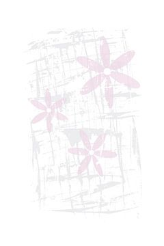 Skandinavisches Design | rosa Blüten von Melanie Viola