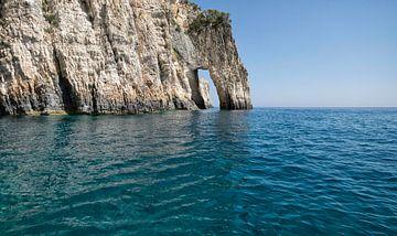 Blauwe grotten Zakynthos van Ruud van der Lubben