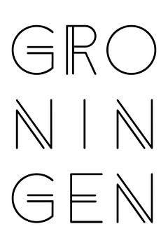 Stadsmotief Groningen Typo van Kim Karol / Ohkimiko