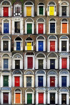 Deuren van Dublin, collage van Henk Elshout