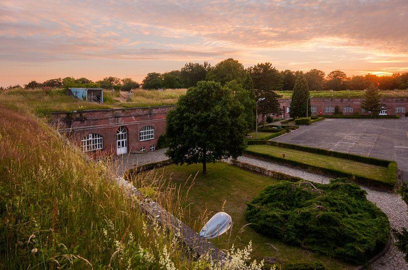 Zonsondergang Citadel van Diest van Bert Beckers
