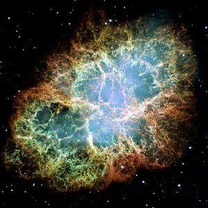 Hubble image of   Crab Nebula