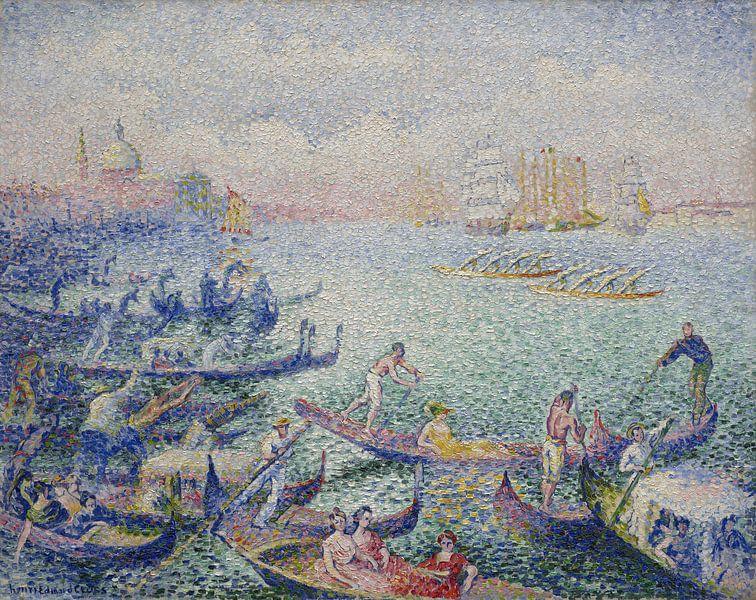 Regatta in Venedig, Henri-Edmond Cross von Meesterlijcke Meesters