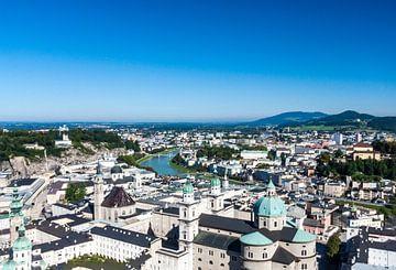 Zicht op Salzburg vanuit Festung Hohensalzburg