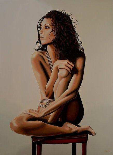 Eva Longoria Schilderij