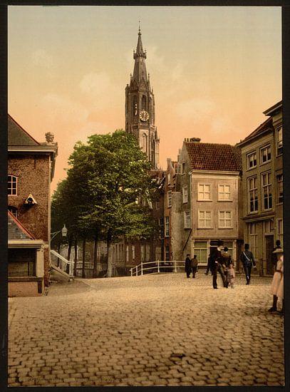 Vismarkt en Nieuwe Kerk, Delft