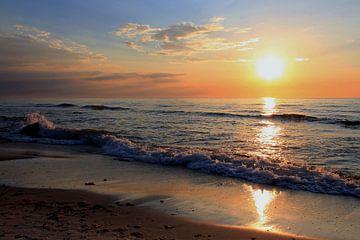 Zonsondergang von Ostsee Bilder