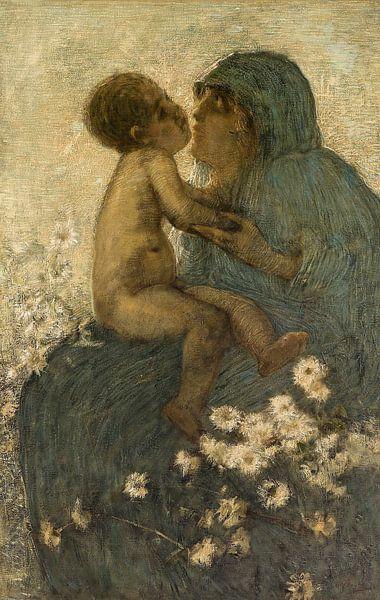 Mutterliebe, Gaetano Previati von Meesterlijcke Meesters
