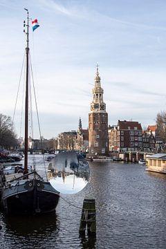Montelbaanstoren Amsterdam van Peter Bartelings Photography