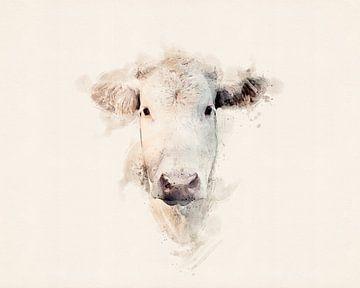 Weiße Kuh von Studio Nooks