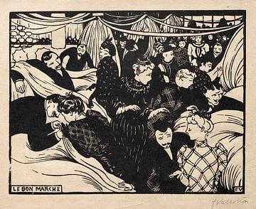 Guter Markt, Félix Vallotton - 1893 von Atelier Liesjes