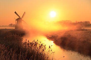 Orange Sonnenaufgang von Sander van der Werf