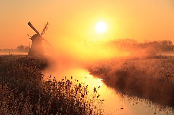 Oranje zonsopkomst van Sander van der Werf