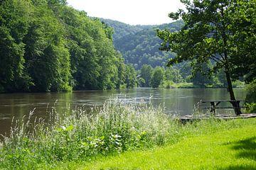 De rivier de Semois bij het plaatsje Thilay Frankrijk van Hans Oudshoorn