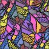 GRAFISCHE PRINT  BLADEREN LOOFBOOM van Marijke Mulder thumbnail