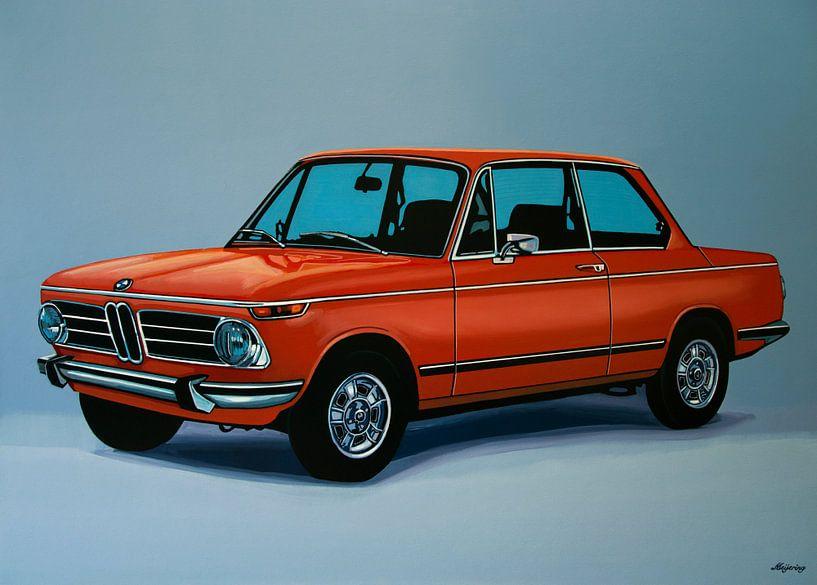 BMW 2002 1968 Schilderij van Paul Meijering