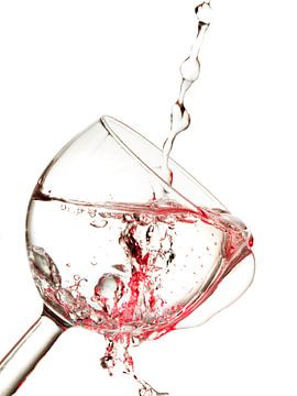 Wijnglas rood von Eddy Verveer