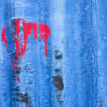 Primal ground - study in blue von Hans Kwaspen