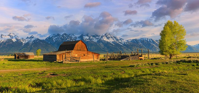 Mormon Row, Grand Teton NP, Wyoming van Henk Meijer Photography