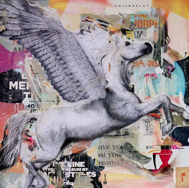Fliegen Sie das weiße Pferd von Michiel Folkers