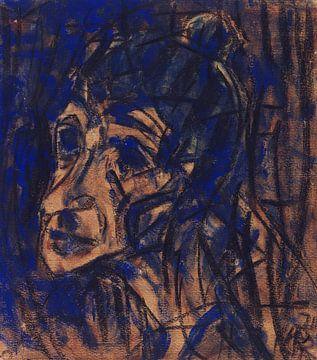 Gesicht, Christian Rohlfs, 1921 von Atelier Liesjes