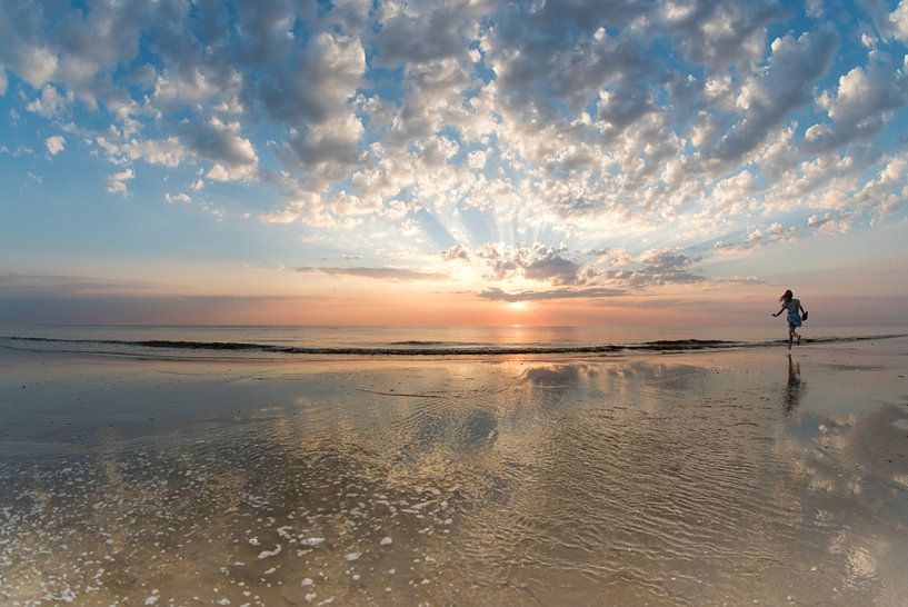 Perfect sunset! van Zilte C fotografie