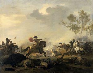 Ruitergevecht, Jan van Huchtenburg