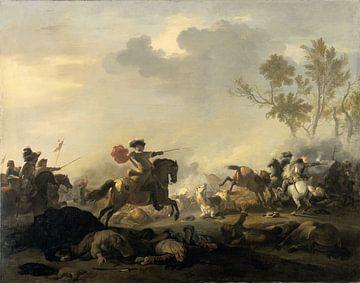 Ruitergevecht, Jan van Huchtenburg van