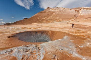 Buitenaards IJsland met kraters en aardse warmte van Eddy 't Jong