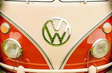 Volkswagen Transporter T1 uit de jaren 1950 of VW T2 vooraanzicht van