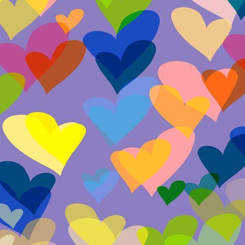 harten paars van Nicole Roozendaal